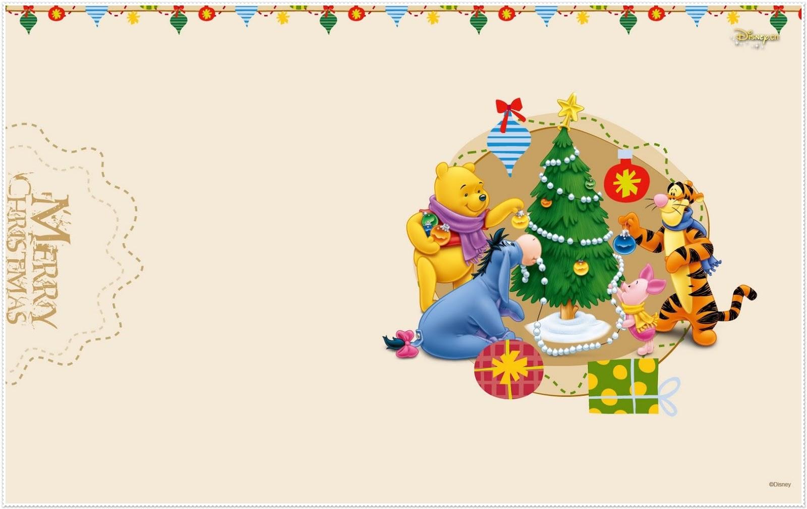 Navidad De Winnie The Pooh Marcos Tarjetas O Invitaciones