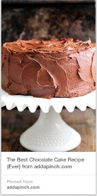 Chocolate cake recipe from Add a Pinch.com