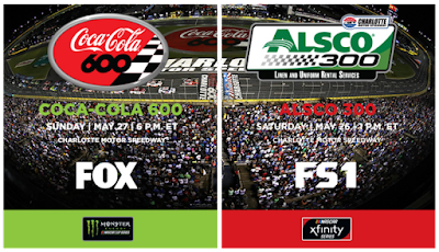 Full Weekend Schedule for Charlotte Motor Speedway #NASCAR #ARCA