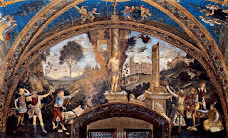 Part of Pinturicchio's fresco cycle at the Borgia Apartments
