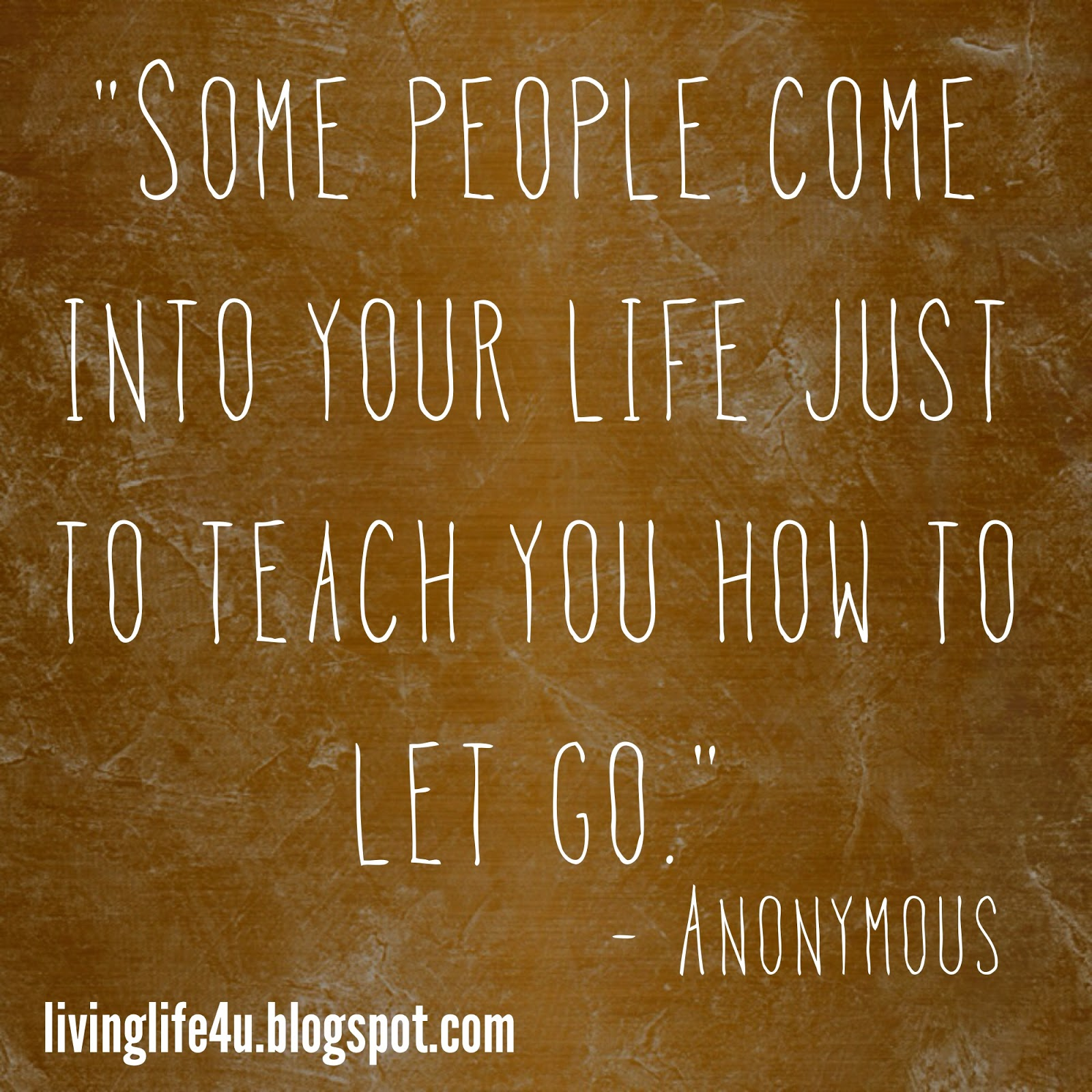 Live Your Life Letting Go