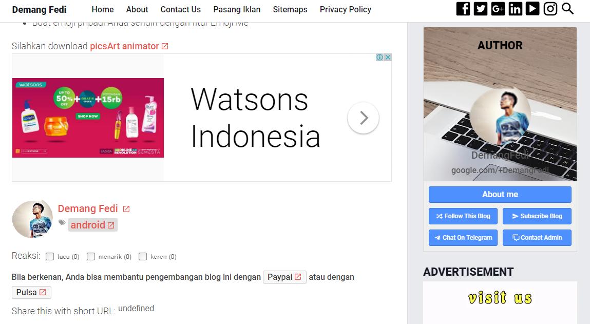 Membuat Unit Iklan Adsense di Akhir atau Bawah Postingan Pada Blog AMP