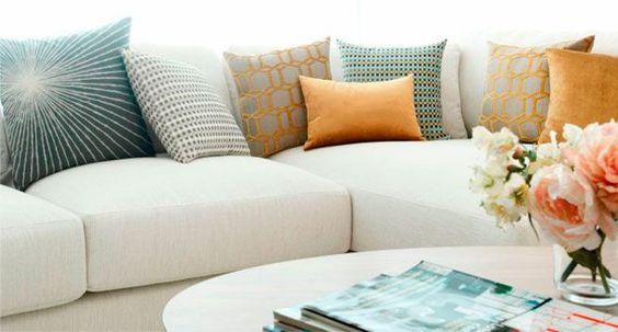 Observa y decora mi truco para combinar cojines for Cojines para sofas exterior