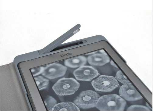 Kindle 4 cover case Real Leather With Built-in LED Light