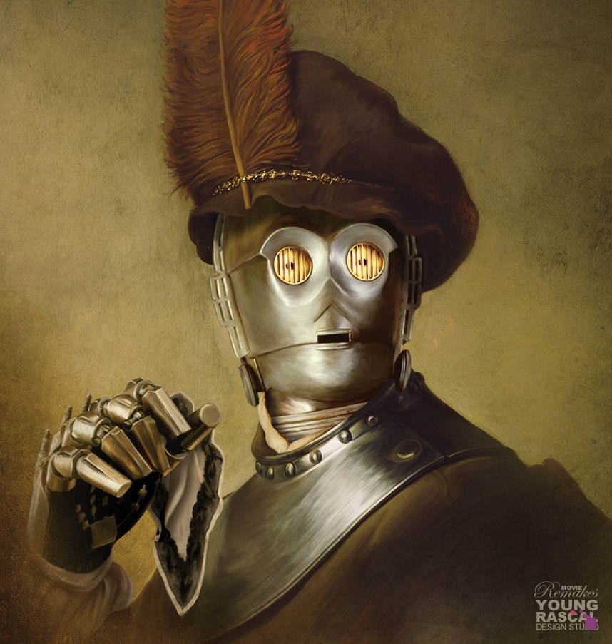 07-C-3PO-Star-Wars-Richard-Kingston-Old-Masters-Paintings-with-a-Science-fiction-Twist-www-designstack-co