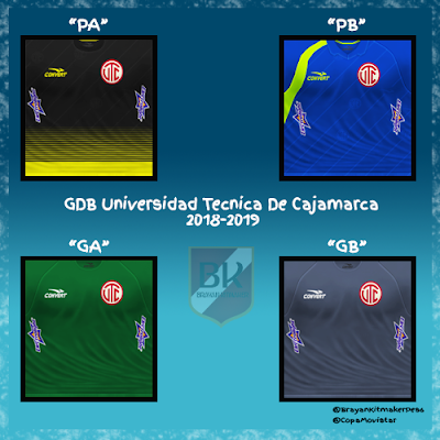 PES 6 Kits Universidad técnica de cajamarca Season 2018/2019 by Brayan