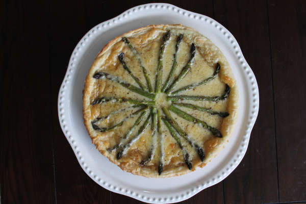 Featured Recipe | Gruyere and Asparagus Tart from Smells Like Brownies #recipe #SecretRecipeClub #asparagus #tart #gruyere