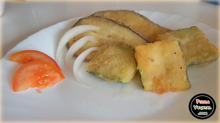 Berenjenas y calabacines empanados