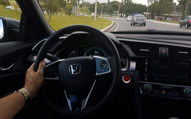 Novo Honda Civic 2017 - teste drive