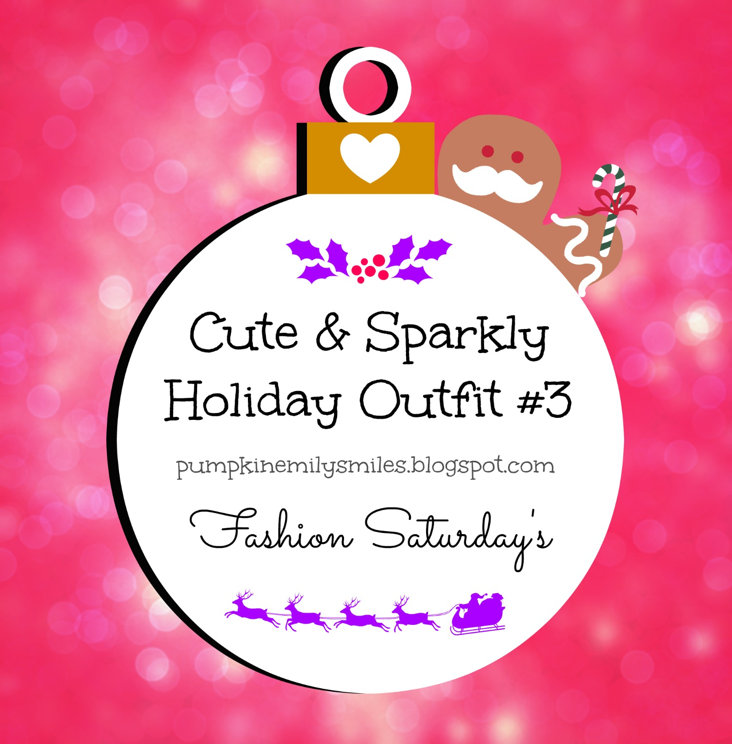 Cute & Sparkly Holiday Outfit #3 Fashion Saturday's