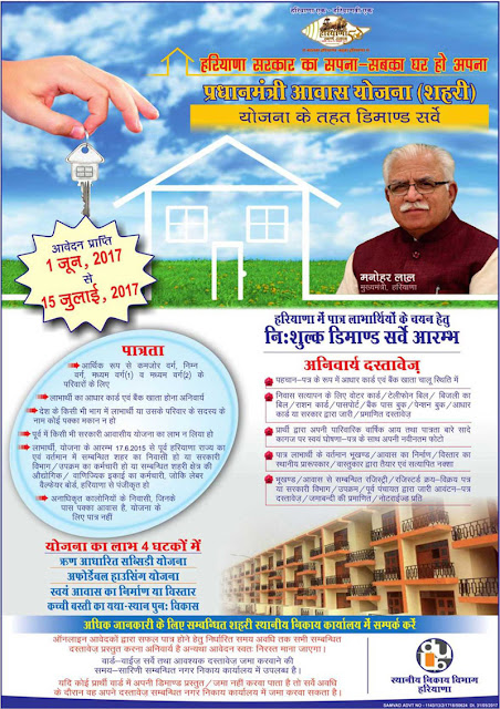 PMAY Demand Survey Haryana Advt