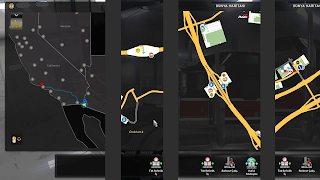 ats google maps navigation night version v1.5 screenshots 2