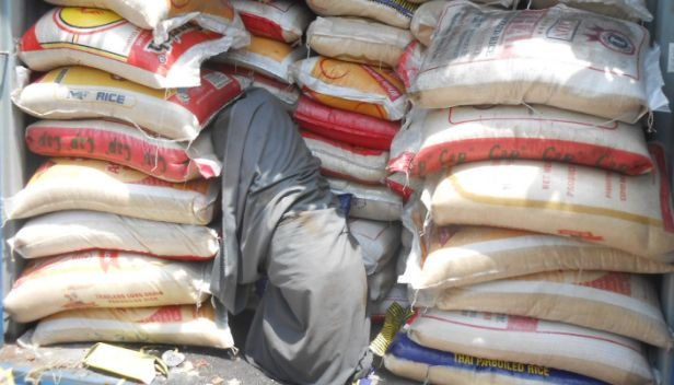 Bullion Van Stuffed With Smuggled Rice Intercepted