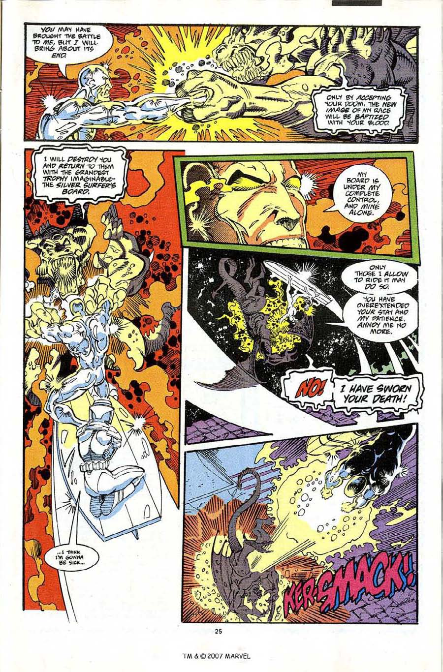 Read online Silver Surfer (1987) comic -  Issue #65 - 27