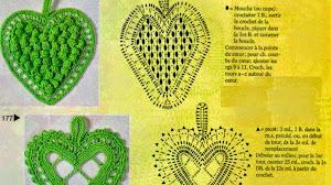 Patrones de corazones al crochet