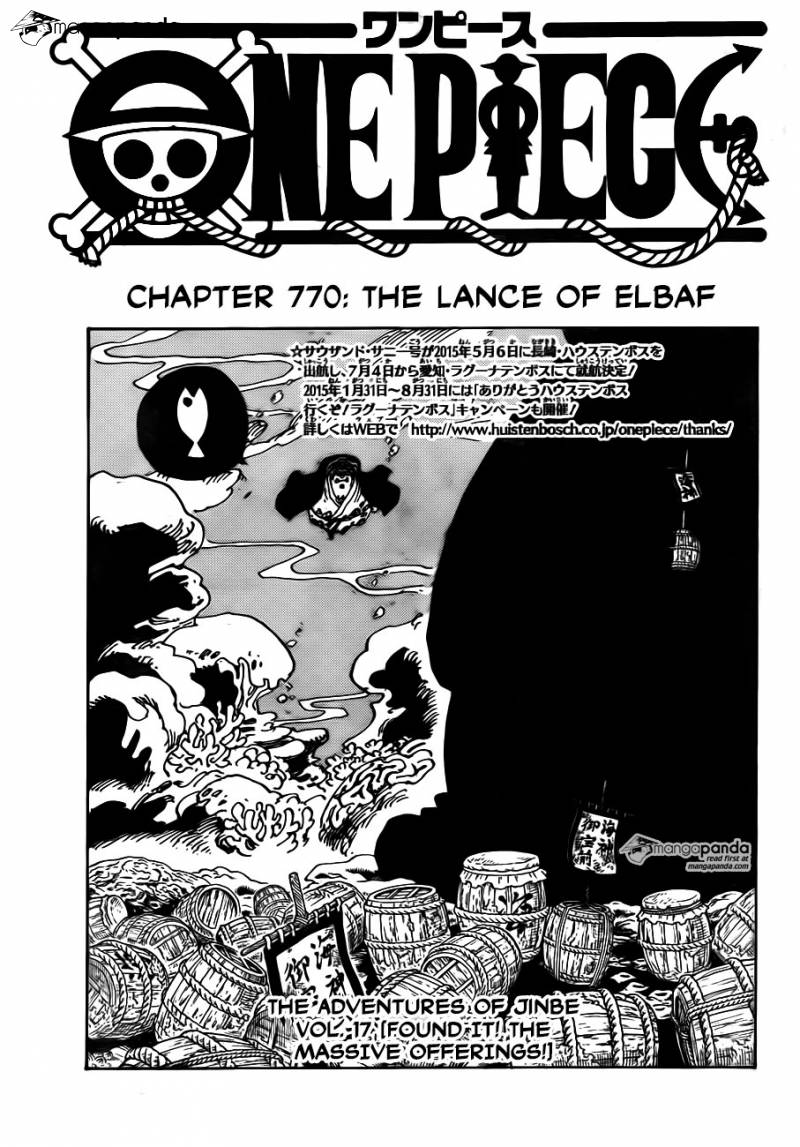 One Piece Ch 770: The Lance of Elbaf