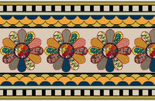 Vector Textile Design Border 690