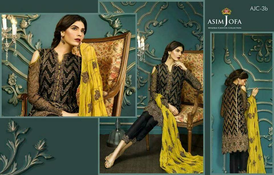 Asim Jofa Eid Collection Dress With Chiffon Embroidered Dori Work Dupatta