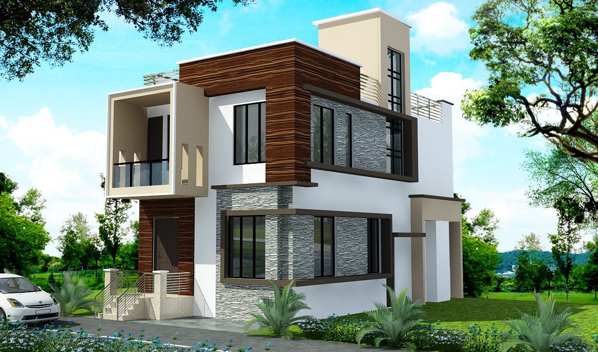 Latest 3D elevations designed by Gharplanner Ghar