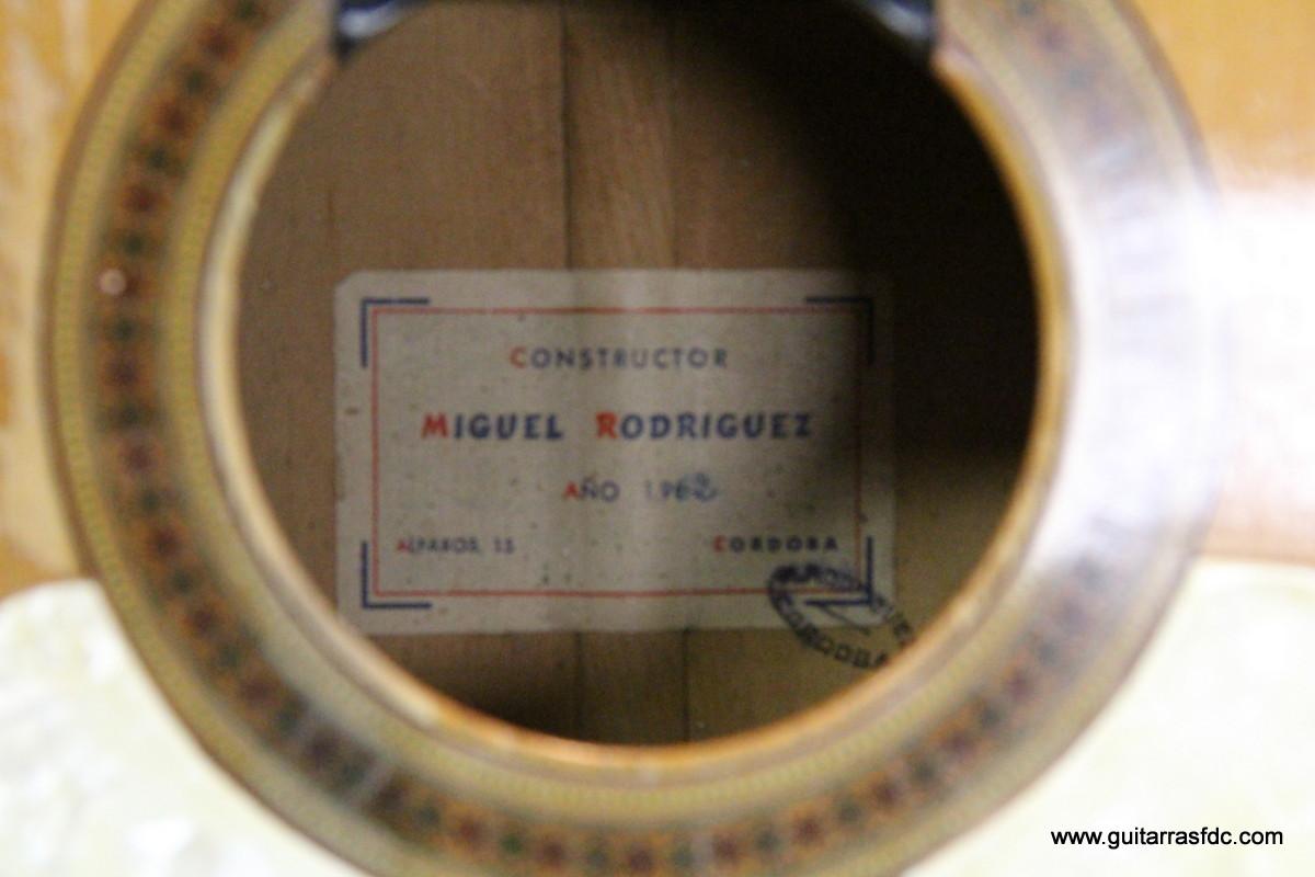 Luis Fernández de Córdoba, luthier: Repair: Miguel Rodriguez 1962