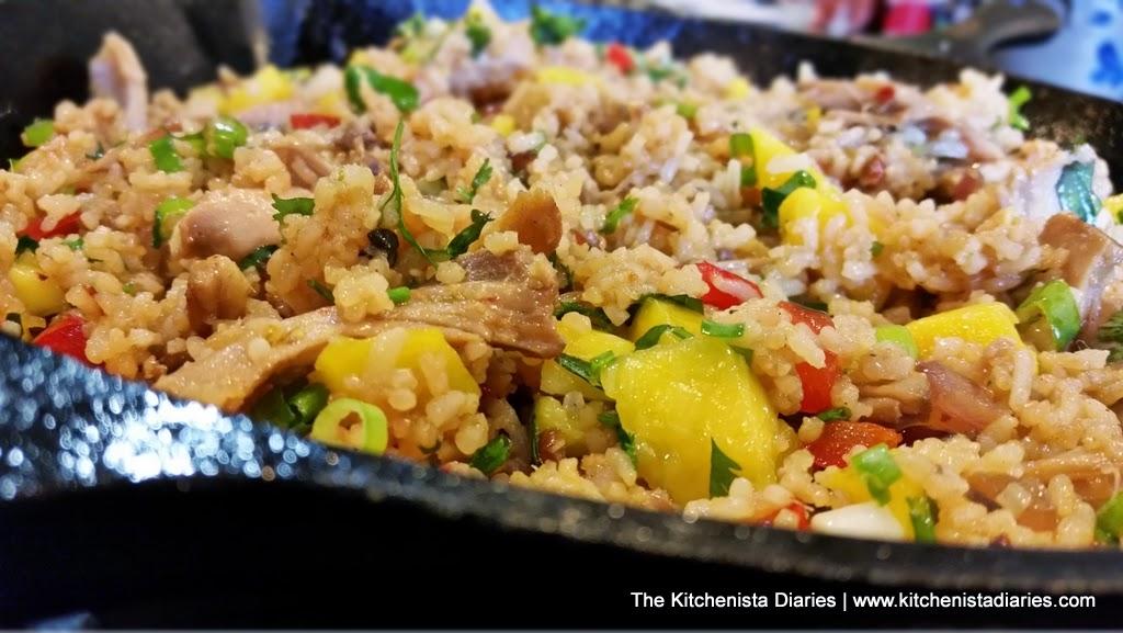 Chicken & Mango Fried Coconut Rice - The Kitchenista Diaries