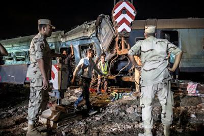 Collision de trains en Egypte: le bilan s'alourdit à 40 morts dans - ECLAIRAGE - REFLEXION a12