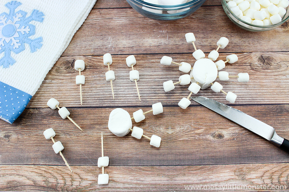 Snowflake marshmallows. A tasty treat for your homemade hot chocolate.