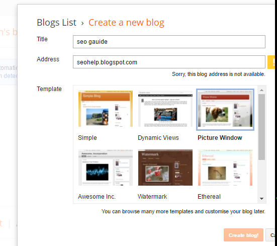 website blogger platform