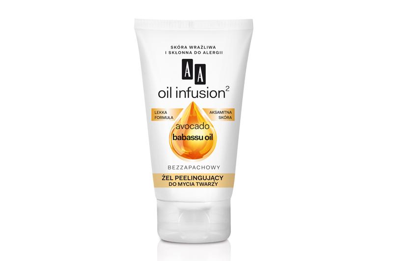 AA Oil Infusion2 Żel peelingujący do mycia twarzy