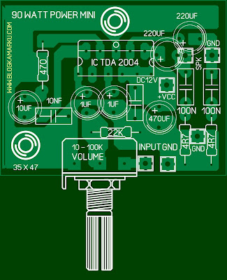 Cara Membuat Power AMPLIFIRE TDA 2004 PCB layout