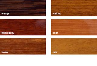 Một số loại gỗ được sử dụng