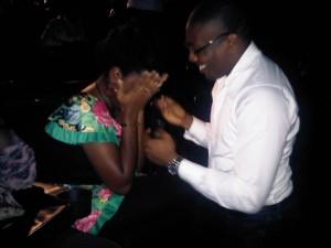 Yoanna Pepper Okwesa Gets Marriage Proposal From Fiancee Inside Silverbird Galleria! 1