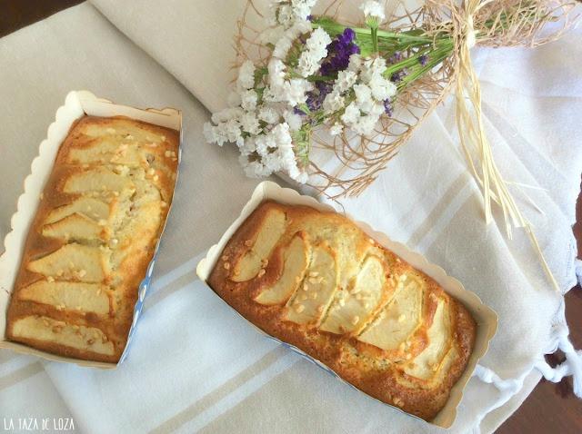 Plumcake-pequeños-de-manzana-almendras