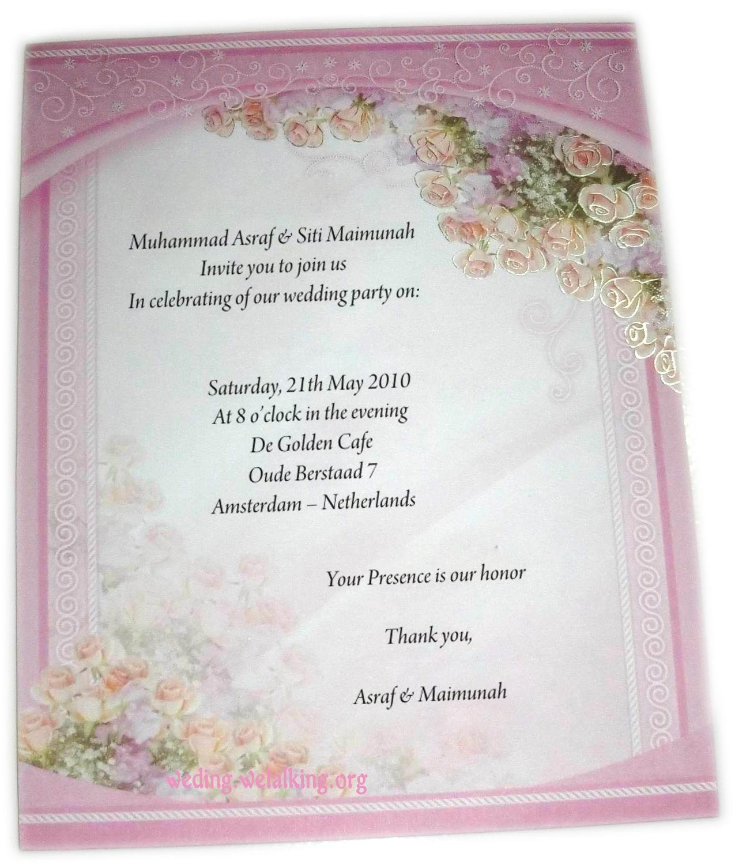 Invitation Wording Samples: Contoh Surat Undangan Birthday Party Dalam Bahasa Inggris