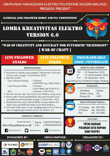 Informasi Lomba Kreativitas Electro Version 6.0 by Politeknik Negeri Malang Diadakan 17 - 18 Desember 2016