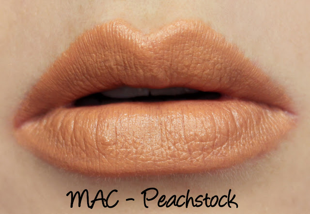 MAC Peachstock Lipstick Swatches & Review