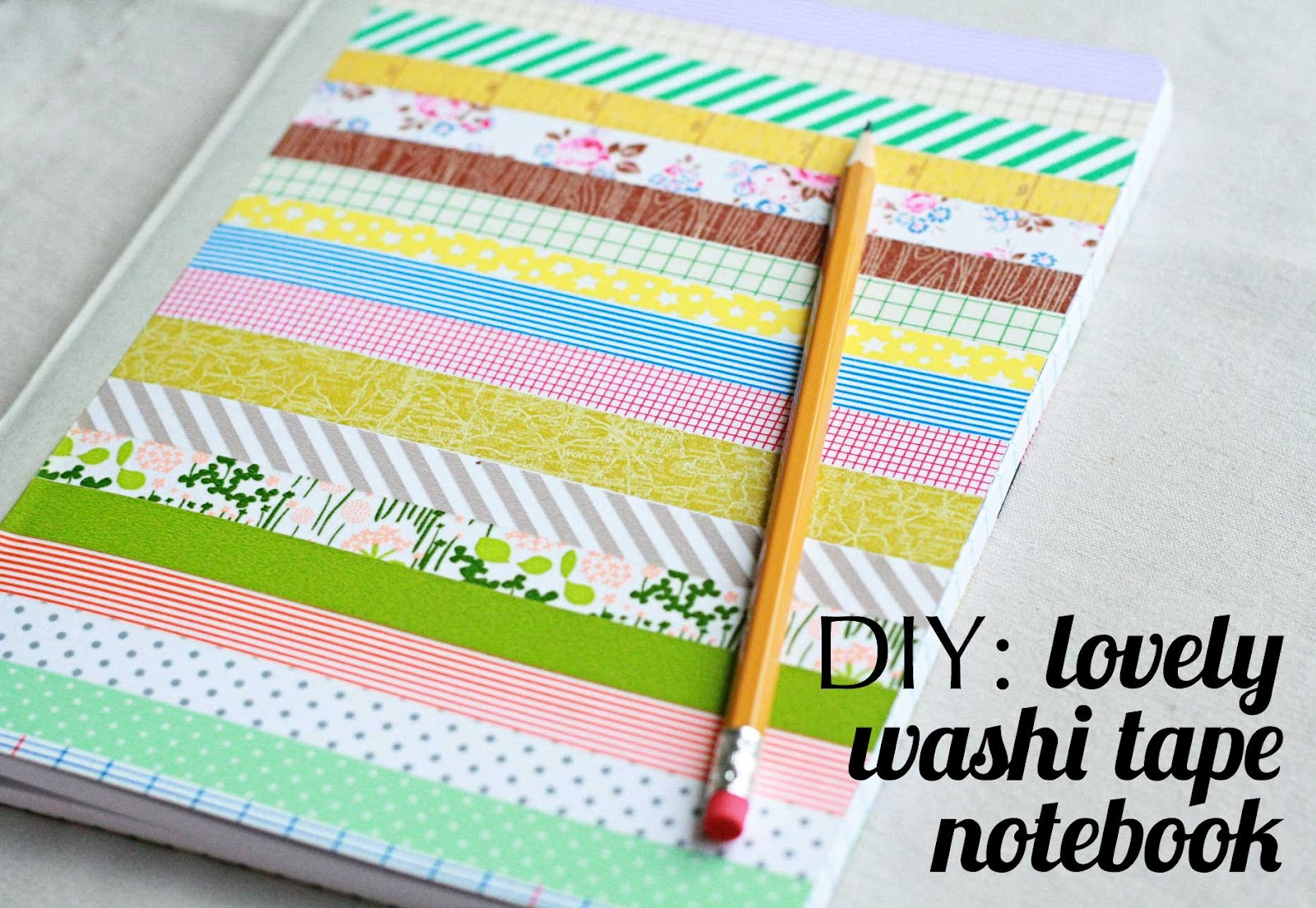 the creative place diy lovely washi tape notebook. Black Bedroom Furniture Sets. Home Design Ideas