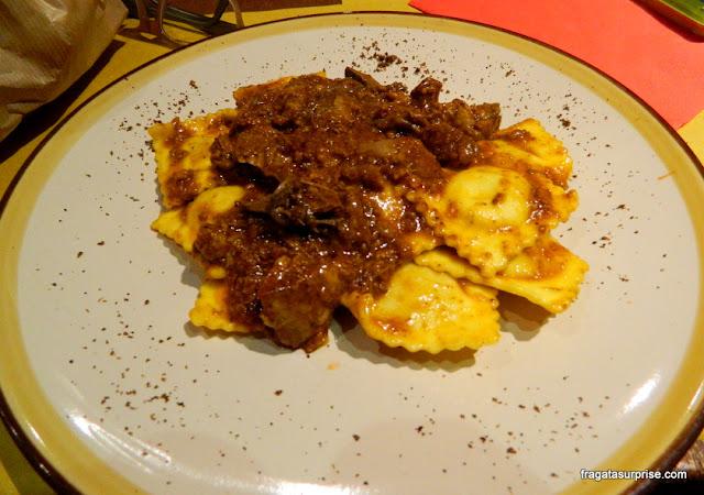 Prato típico de Florença: ragù de javali