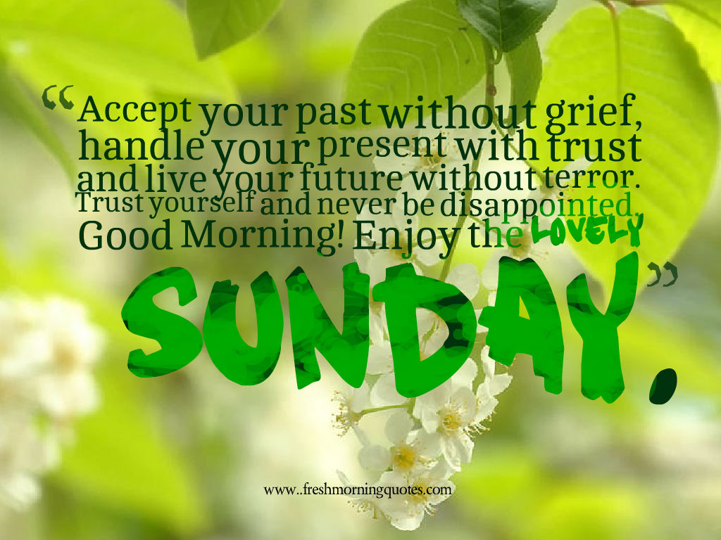 have a beautiful Sunday messages