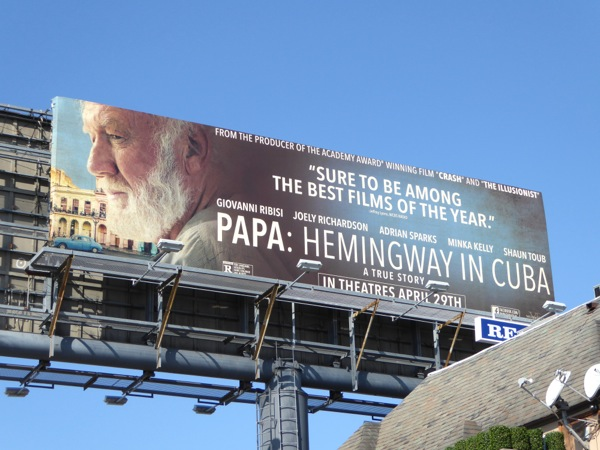 Papa Hemingway in Cuba film billboard