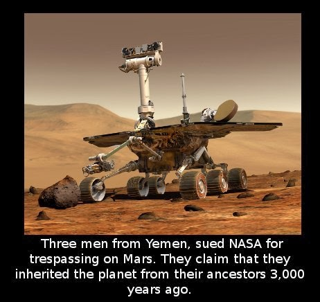 Did you know that Three men from Yemen, sued NASA for ...