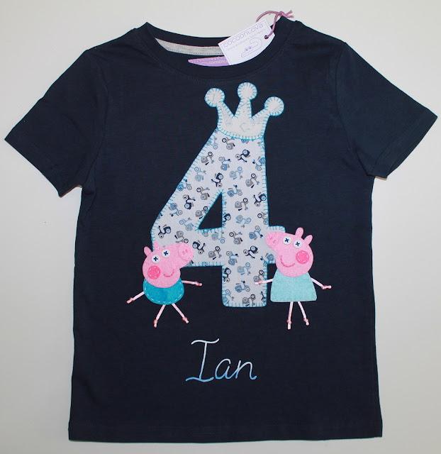 camiseta cumpleaños peppa pig 4 años