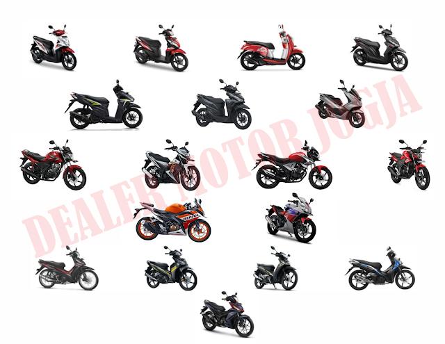 Price List / Daftar Harga Sepeda Motor Honda Juni 2016 untuk Wilayah Jogja