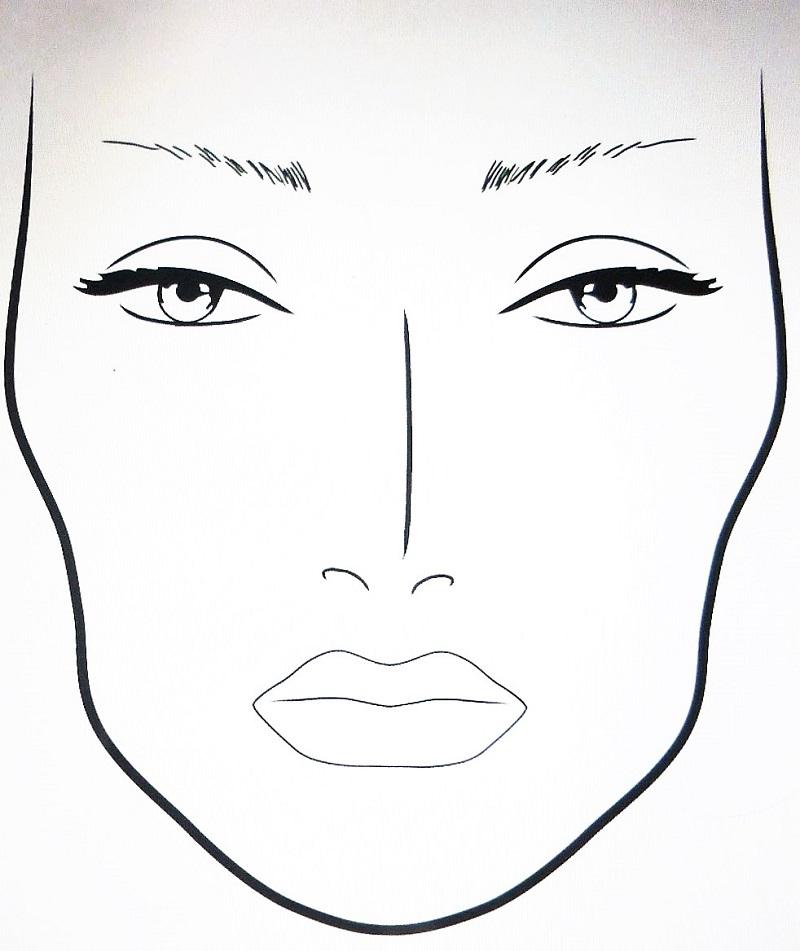 where to get blank makeup face charts makeup vidalondon