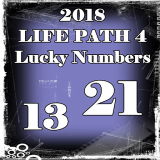 2018 LIFE PATH 4 Lucky Numbers and Days in LOVE an MONEY