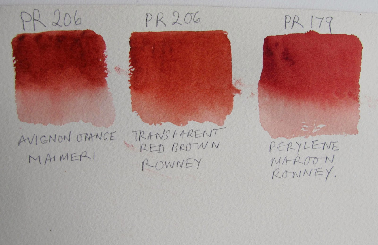 The Watercolour Log Quinacridone Maroon Pr 206 Pigment