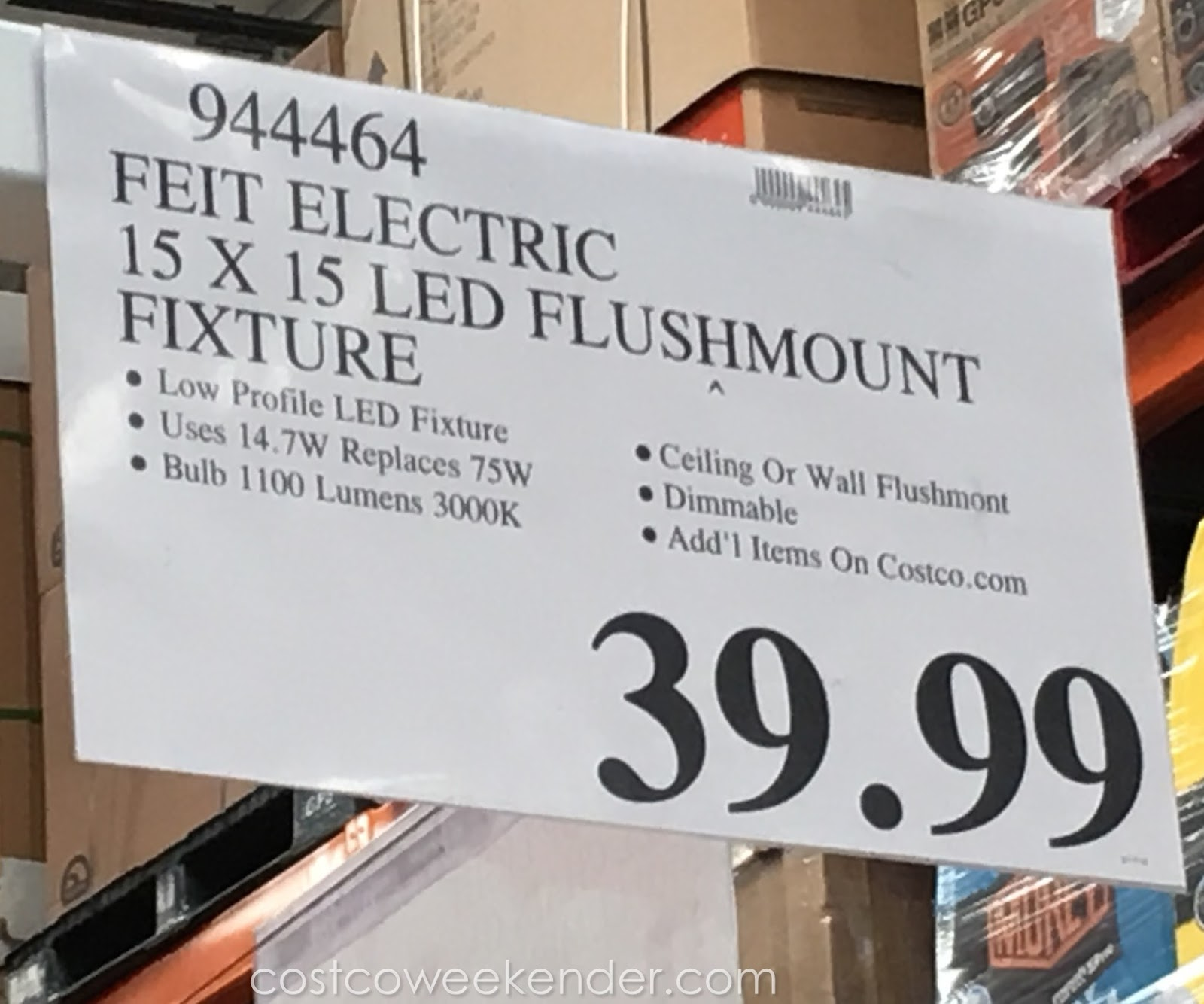 Deal For The Feit Led Flat Panel Light Fixture At Costco