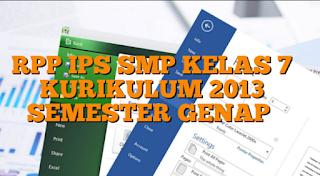 RPP IPS SMP/MTs Kurikulum 2013 Semester Genap Kelas 7 Semua Tema Dan Sub Tema