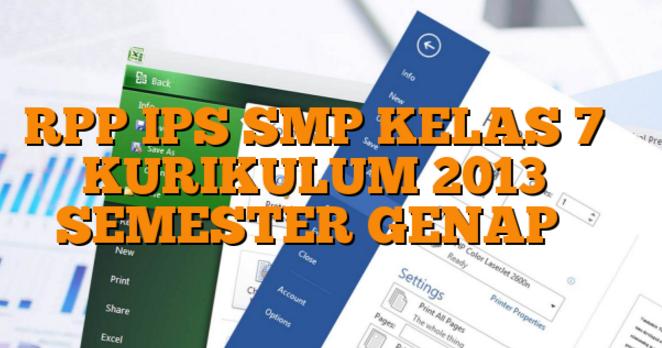 Rpp Ips Smp Mts Kurikulum 2013 Semester Genap Kelas 7 Semua Tema Dan Sub Tema Kurikulum 2013