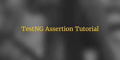 TestNG Assertion Tutorial